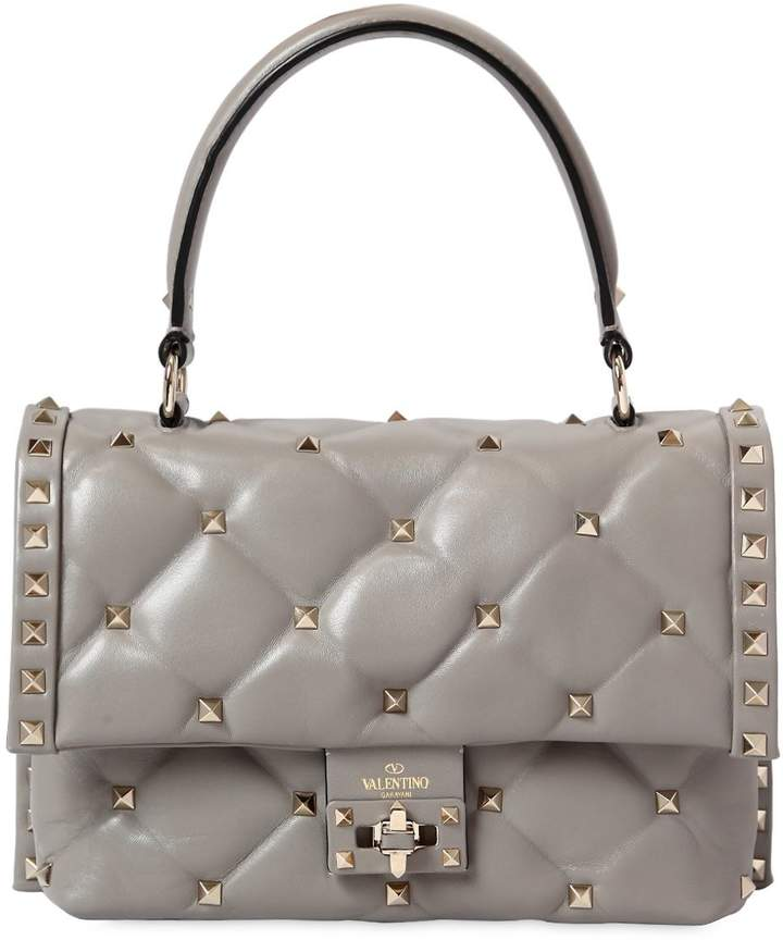 Candy Leather Top Handle Bag