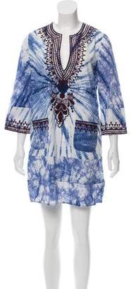Twelfth Street By Cynthia Vincent Embroidered Tunic Mini Dress