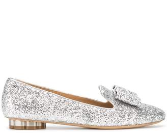 Salvatore Ferragamo glitter bow pumps