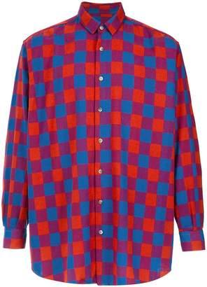 À La Garçonne oversized checkered shirt