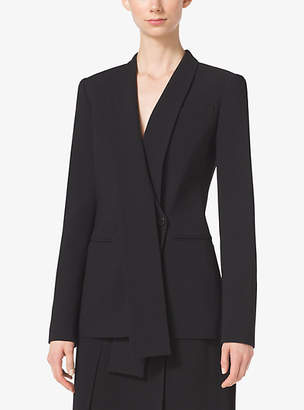 Michael Kors Shawl-Collar Wool-Serge Blazer