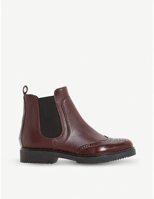 Dune Brogue Chelsea leather ankle boots