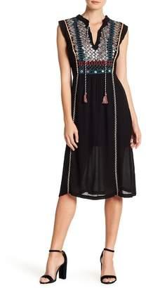Gypsy 05 Gypsy05 Embellished Bodice Midi Dress