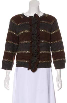 St. John Sequin-Accented Knit Sweater