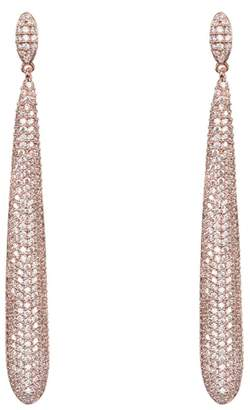 Nina Skinny Teardrop Pave Earrings