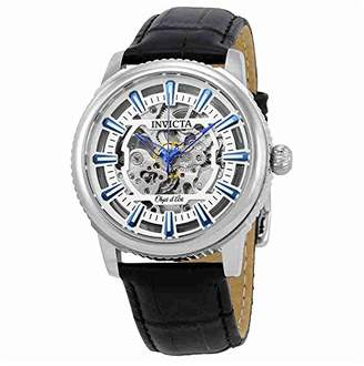 Invicta Men's 'Objet D Art' Automatic Stainless Steel and Leather Casual Watch