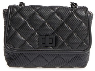 Steve Madden 'B Clarre' Perforated & Quilted Faux Leather Crossbody Bag $38 thestylecure.com