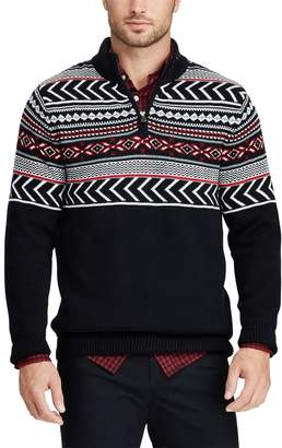 Chaps Big & Tall Classic-Fit Quarter-Zip Sweater