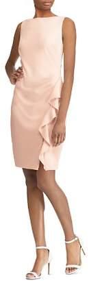 Ralph Lauren Sleeveless Ruffle-Trim Dress