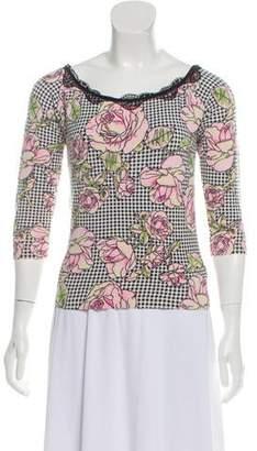 Anna Molinari Printed Knit Top
