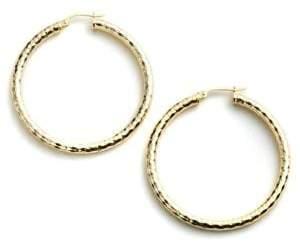 Lord & Taylor Sterling Silver Hammered Metal Hoop Earrings