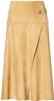 Ralph Lauren Antonella Suede Skirt $2,490 thestylecure.com