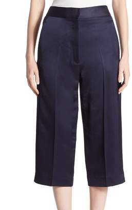 Victoria Beckham Women's Cropped Silk-Blend Trousers