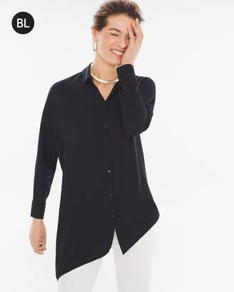 Black Label Asymmetrical-Hem Shirt