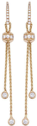 Piaget Possession 18K Red Gold Drop Earrings with Diamonds