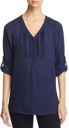 Daniel Rainn Pintucked Tunic Top