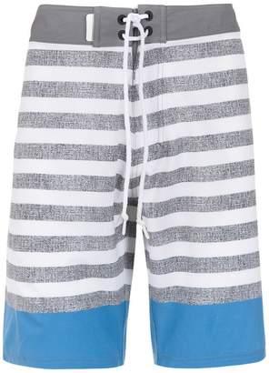 Track & Field Striped swim shorts