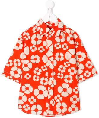 Marni orange floral shirt