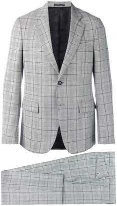 Versace check two-piece suit