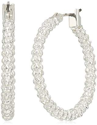 Nine West Tone Medium Hoop Earrings