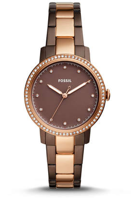 Fossil Neely Three-Hand Two-Tone Stainless Steel Watch