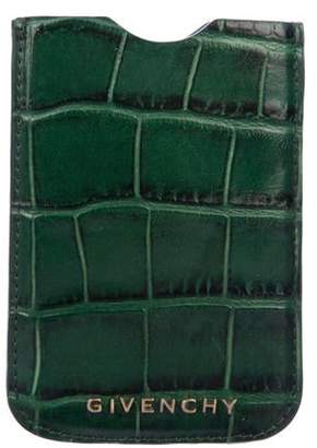 Givenchy Embossed Leather Phone Case Green Embossed Leather Phone Case