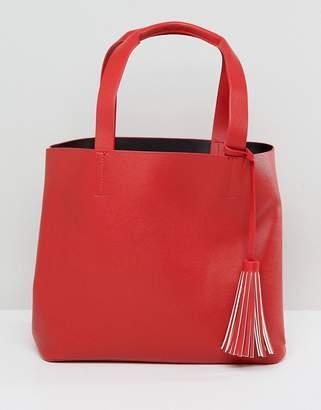 Pieces Shopper Bag With Tassle