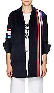 "Mira Mikati Women's ""Adrenaline Seekers"" Cotton Velvet Top - Navy"