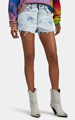 GRLFRND Women's Cindy Distressed Acid-Washed Cutoff Shorts - Blue