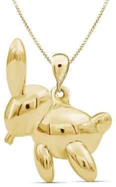 JewelersClub 14k Gold over Silver Rabbit Metal Pendant