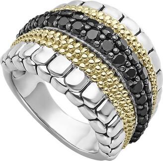 Lagos Diamond Lux Black Diamond Band Ring