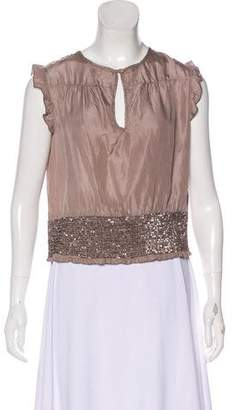 Edun Silk Embellished Top