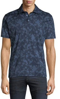 Etro Men's Paisley-Print Polo Shirt