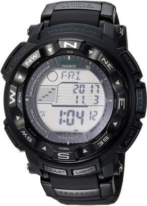 Casio Men's 'PRO TREK' Quartz Resin Sport Watch, Color:Black (Model: PRW2500-1A)