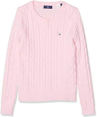 Gant Girl's Stretch Cotton Cable Sweater Jumper,(Manufacturer Size: 110/116)