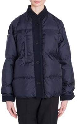 Jil Sander Contrast Button Puffer Coat