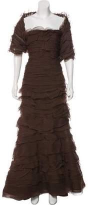 Oscar de la Renta Silk Tulle Gown