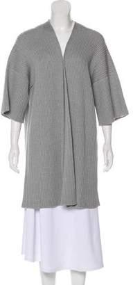 eskandar Wool Open Front Cardigan
