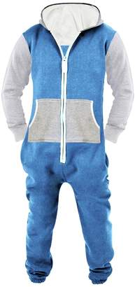 SkylineWears Men's Unisex Onesie Jumpsuit One Piece Non Footed Pajama L