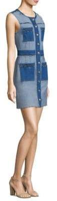 7 For All Mankind Denim Button-Front Dress
