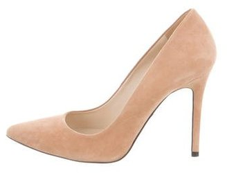 Whistles Suede Pointed-Toe Pumps $95 thestylecure.com