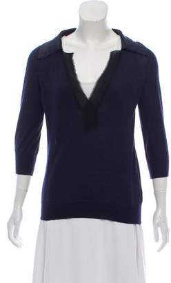 Lanvin Cashmere Paneled Sweater