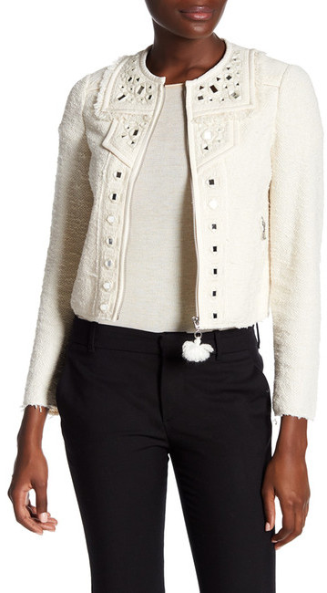 Rebecca Taylor Rebecca Taylor Mirror Embellished Boucle Jacket