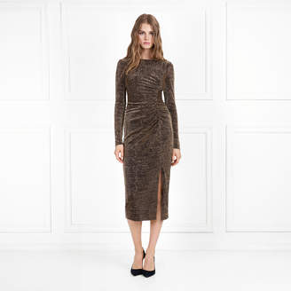Rachel Zoe Lovey Metallic Jersey Midi Dress