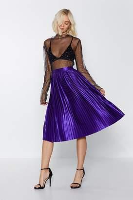 Nasty Gal Love Train Satin Skirt