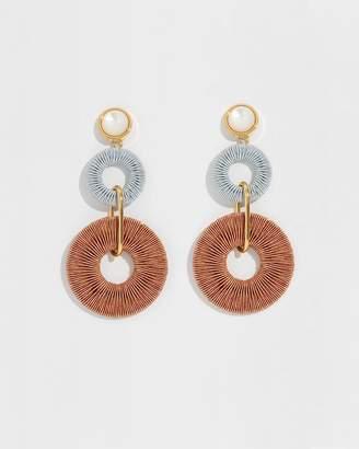 Lizzie Fortunato Woven Corsica Column Earrings