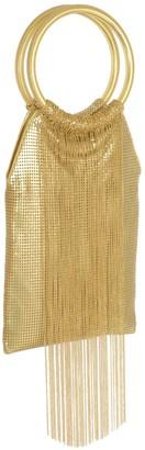 Whiting & Davis Gold Rush Fringe Ring Handle Handbag