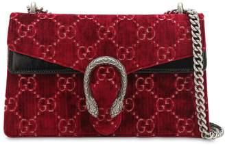 Gucci Small Dionysus Logo Velvet Shoulder Bag