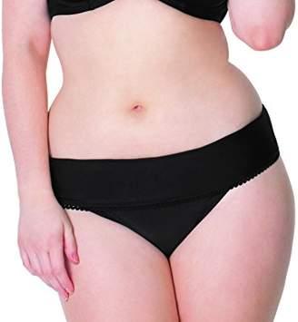 Curvy Kate Women's Jetty Fold Over Brief Bikini Bottom