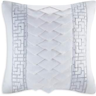 Natori White Orchid Decorative Pillow, 18 x 18